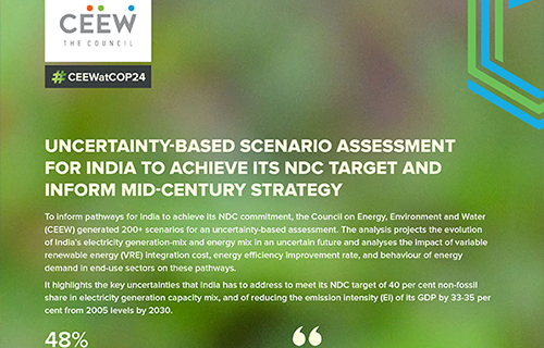 Uncertainty-Based Scenario Assessment for India to Achieve its NDC Target and Inform Mid-Century Strategy