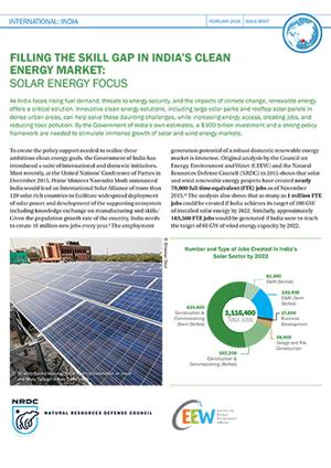 CEEW NRDC Filling the Solar Skill Gap