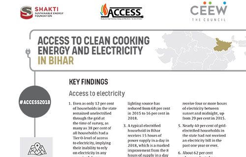Access to Clean Cooking Energy and Electricity in Bihar