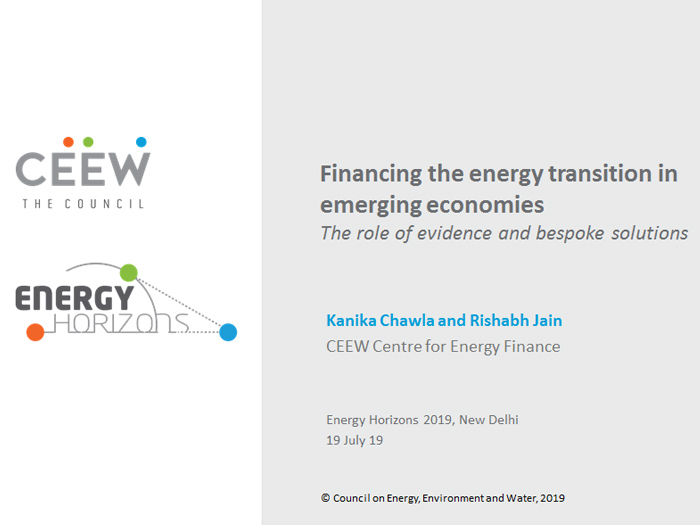 Financing the energy transition in emerging economies