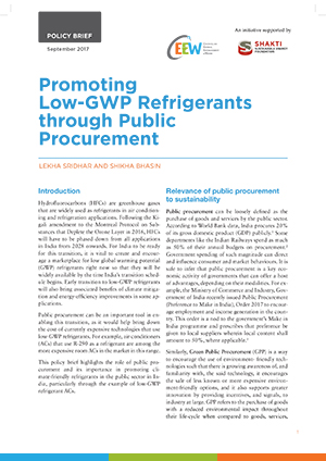 Promoting Low-GWP Refrigerants through Public